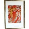 Marc Chagall / Adam und Eva  - Vertreibung aus dem irdischen Paradies/ gerahmt