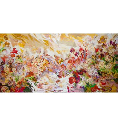 Alexej Tretjakow / Weiße Rosen (sehr groß)
