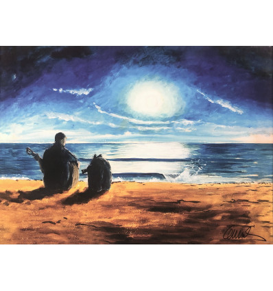 Otto Waalkes / Allegro con Rüsselo / Piano /  Leinwand / handsigniert